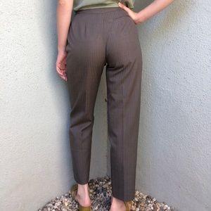 Pants - [vintage] grey stripe minimal wool blend trousers